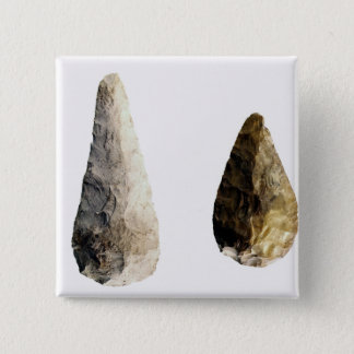 Two blades, from Saint-Acheul 15 Cm Square Badge