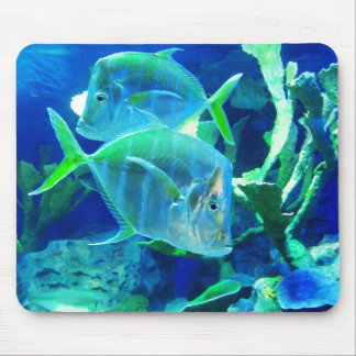 Two Blue Fish Mouse Mat