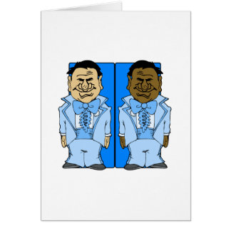 Two Blue Grooms Card