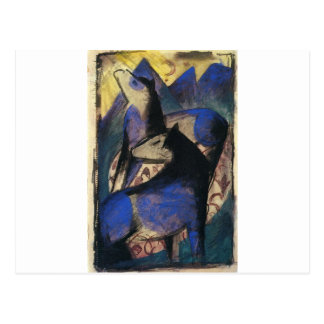 Two Blue Horses by Franz Marc Postcard
