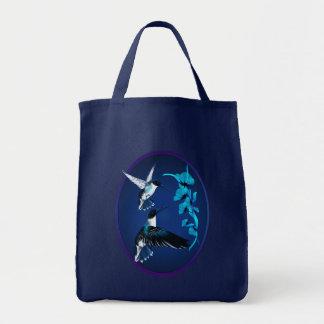Two Blue Hummingbirds Oval Bag
