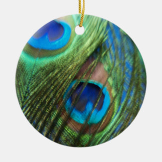 Two Blue Peacock Still Life Christmas Ornament