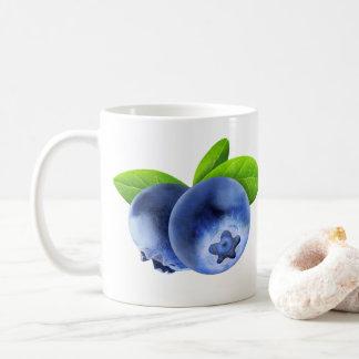 Two blueberries coffee mug
