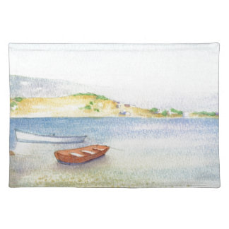 Two boats inn Greece Placemat