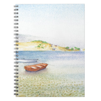 Two boats inn Greece Spiral Notebook