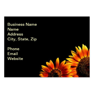 Two Bold Sunflowers Pack Of Chubby Business Cards