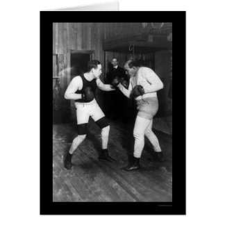 Two Boxers, Jeffries and Berger, Sparring 1909 Greeting Card