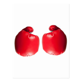 Two boxing gloves post card