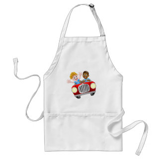 Two Boys in a Car Standard Apron