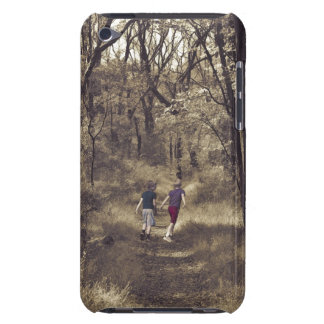 Two Boys On a Forest Path iPod Case-Mate Case