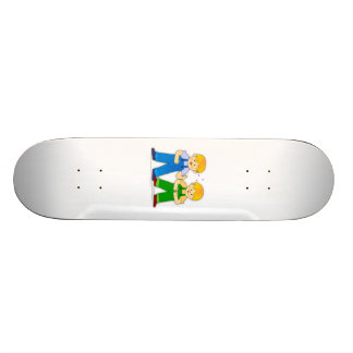Two Boys Skate Boards