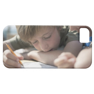 Two boys writing together barely there iPhone 5 case
