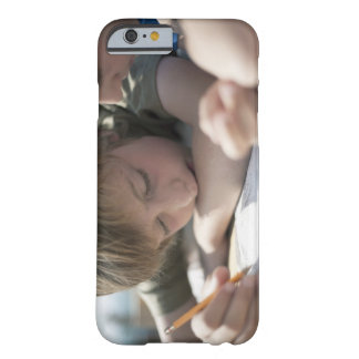 Two boys writing together barely there iPhone 6 case