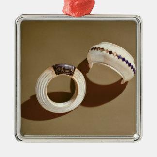 Two bracelets, from the Tomb of Tutankhamun Christmas Ornament