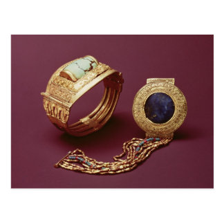 Two bracelets, from the Tomb of Tutankhamun Postcard