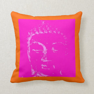 Two Branching Out pink/orange buddha pillow