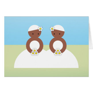 Two brides card