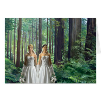 Two Brides in the Forest Greeting Card