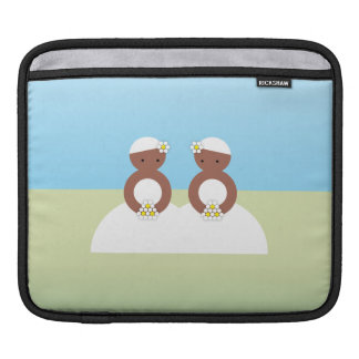 Two brides sleeve for iPads
