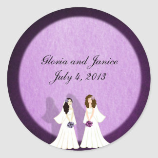 Two Brides Lesbian Wedding Custom Stickers