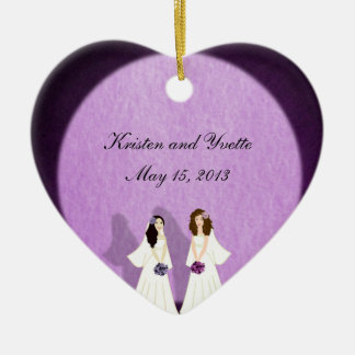 Two Brides Lesbian Wedding Ornament Favors