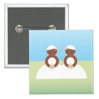 Two brides pinback buttons