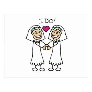Two Brides Postcard