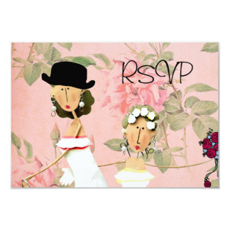 Two Brides RSVP 9 Cm X 13 Cm Invitation Card