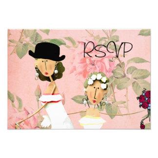 Two Brides RSVP Custom Invitation