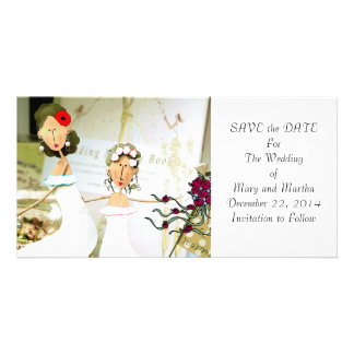 Two Brides Save the Date Photo Card