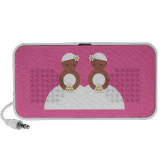 Two brides speaker system