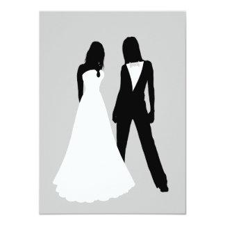 Two Brides Wedding 11 Cm X 16 Cm Invitation Card