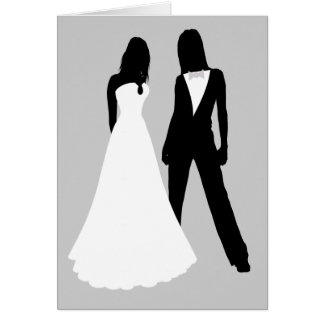Two Brides Wedding Card