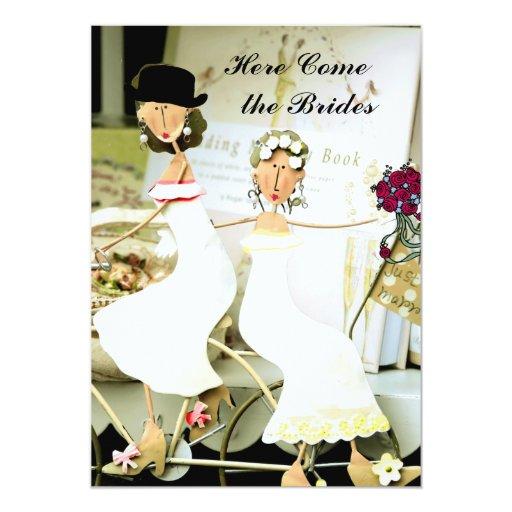 Two Brides Wedding Invitation with two Brides Zazzle