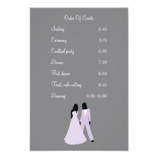 Two Brides Wedding (Lilac and Grey) Events Photo