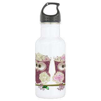 Two Brides Wedding Owls Art 532 Ml Water Bottle
