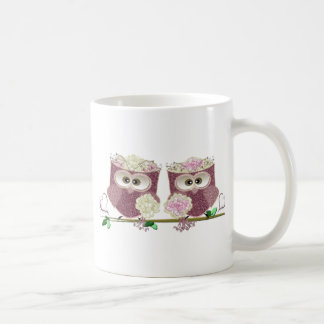 Two Brides Wedding Owls Art Gifts Coffee Mugs