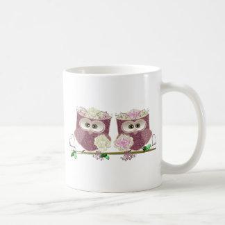 Two Brides Wedding Owls Art Gifts Coffee Mugs