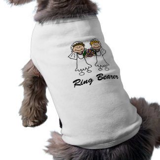 Two Brides with Flowers Pet Tshirt