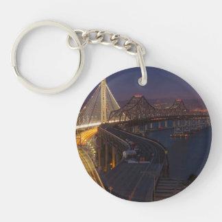 Two Bridges San Francisco–Oakland Bay Bridge Keychain