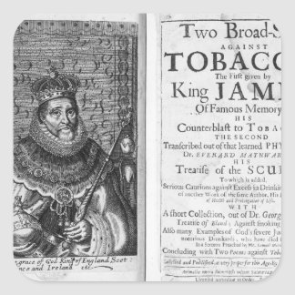 'Two Broadsides Against Tobacco Square Sticker