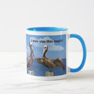 Two Brown Pelicans Love You Mug