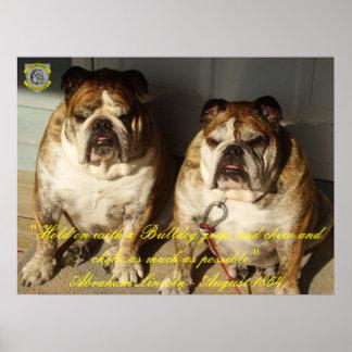 Two Bulldog 1864 Lincoln Quote Fine Canvas Print