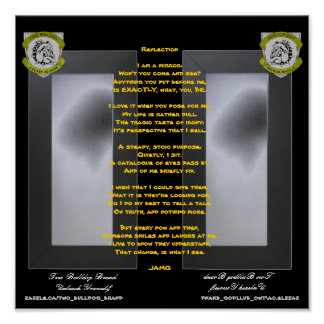 Two Bulldog Brand REFLECTIONS Poem Poster