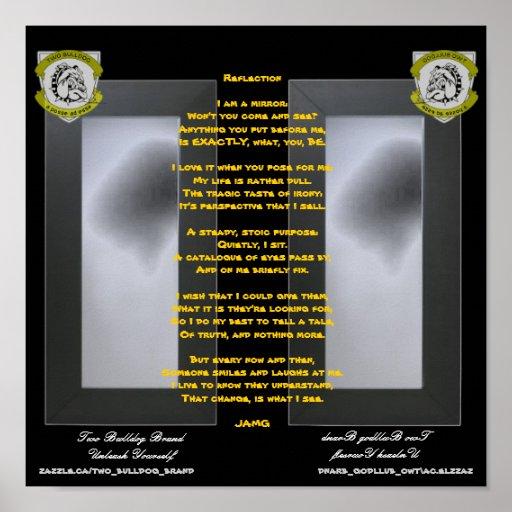 Two Bulldog Brand REFLECTIONS Poem Poster
