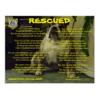 Two Bulldog Brand RESCUED Poster
