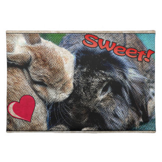Two bunnies in love placemat