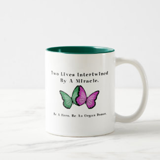 Two Butterflies Are One Two-Tone Mug