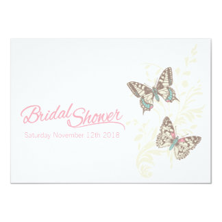 Two butterflies graphic bridal shower invitation