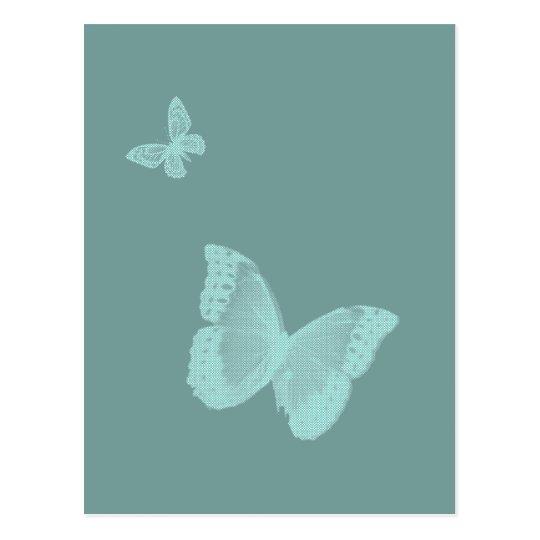 Two Butterflies Postcard
